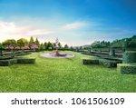 Beautiful Roman Fountain In Th...