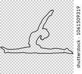 outline figure woman doing...   Shutterstock .eps vector #1061509319