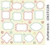 vector frame set | Shutterstock .eps vector #106151186