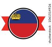 liechtenstein flag in glossy... | Shutterstock .eps vector #1061514926