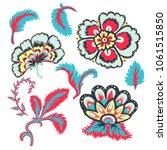 decorative beautiful flowers... | Shutterstock .eps vector #1061515850