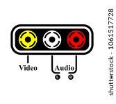 av inputs and outputs | Shutterstock .eps vector #1061517728