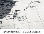taiwan map background | Shutterstock . vector #1061530016