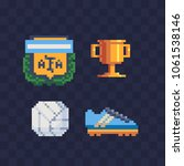 sports football argentina pixel ... | Shutterstock .eps vector #1061538146