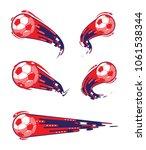 football symbols set. fast... | Shutterstock .eps vector #1061538344