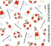 seamless pattern with colored... | Shutterstock .eps vector #1061544890