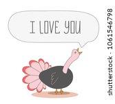 singing love bird  postcard for ... | Shutterstock . vector #1061546798