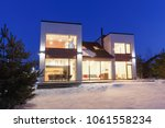 private house with panoramic... | Shutterstock . vector #1061558234