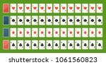 set poker playing cards  full... | Shutterstock .eps vector #1061560823