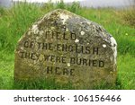 Culloden battle field memorial stone. The Battle of Culloden was the final confrontation of the 1745 Jacobite Rising.The conflict was the last pitched battle fought on British soil,[