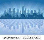 philadelphia pennsylvania city... | Shutterstock .eps vector #1061567210