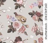 elegant floral seamless pattern ... | Shutterstock .eps vector #1061569160