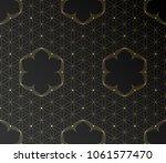 vector golden sacred geometric... | Shutterstock .eps vector #1061577470