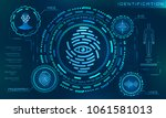 biometric identification... | Shutterstock .eps vector #1061581013