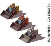 isometric skid mini loader... | Shutterstock .eps vector #1061582999