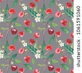 hand drawn watercolor wreath of ...   Shutterstock . vector #1061591060