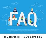 frequently asked questions... | Shutterstock .eps vector #1061595563