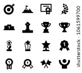 solid vector icon set   target... | Shutterstock .eps vector #1061599700