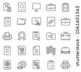 thin line icon set   stamp... | Shutterstock .eps vector #1061601563