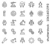 thin line icon set   wrench... | Shutterstock .eps vector #1061601593