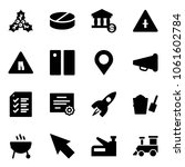 solid vector icon set   holly... | Shutterstock .eps vector #1061602784
