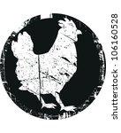 chicken stamp | Shutterstock .eps vector #106160528