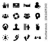 solid vector icon set  ... | Shutterstock .eps vector #1061609243