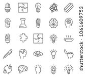 thin line icon set   idea... | Shutterstock .eps vector #1061609753