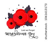 remembrance day vector card.... | Shutterstock .eps vector #1061613173