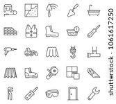 thin line icon set   cutter... | Shutterstock .eps vector #1061617250