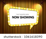 theater sign on curtain... | Shutterstock .eps vector #1061618390