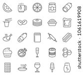 thin line icon set   sausage...   Shutterstock .eps vector #1061619908