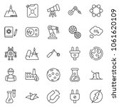 thin line icon set   leaf... | Shutterstock .eps vector #1061620109