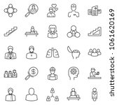 thin line icon set  ... | Shutterstock .eps vector #1061620169