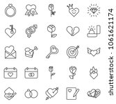 thin line icon set   rose...   Shutterstock .eps vector #1061621174