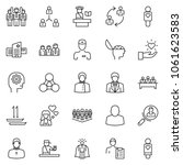 thin line icon set  ...   Shutterstock .eps vector #1061623583