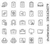thin line icon set   stamp... | Shutterstock .eps vector #1061626079