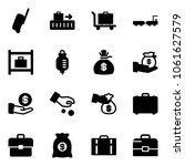 solid vector icon set  ... | Shutterstock .eps vector #1061627579