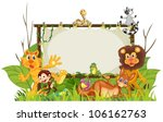 Stock vector illustration of various animals on a white background 106162763