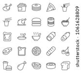 thin line icon set   sausage...   Shutterstock .eps vector #1061628809