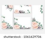 wedding invitation card... | Shutterstock .eps vector #1061629706