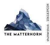 mount matterhorn in the alps....   Shutterstock .eps vector #1061639234