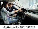 young vietnamese salesman... | Shutterstock . vector #1061639969