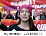 activists protest against... | Shutterstock . vector #1061640344