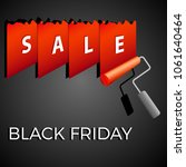 black friday   sale banner with ... | Shutterstock .eps vector #1061640464