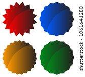 starburst  badge shape  element....   Shutterstock .eps vector #1061641280