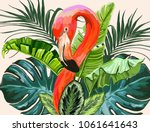 vector vintage composition with ... | Shutterstock .eps vector #1061641643