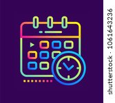 outline gradient icon schedule. ... | Shutterstock .eps vector #1061643236
