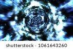hyperspace jump through the... | Shutterstock . vector #1061643260