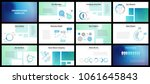 business presentation templates.... | Shutterstock .eps vector #1061645843